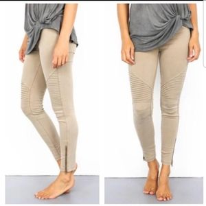 New Mix moto jean leggings khaki L/XL